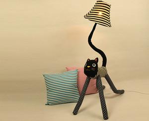 Clown Katze Stoff Stehlampen 2pcs eine Tasche, Stehlampe kreative süße Kinder, Wohnzimmer Schlafzimmer Nachttischlampe, Leselampe Nachtlichter