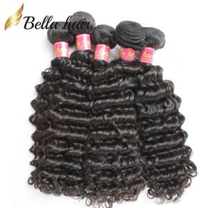 Необработанные Virgin Human Пучки волос Бразильский перуанский Малайзия Индийский монгольской Deep Wave Наращивание волос Уток Natural Color Дешевые волос