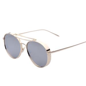 2016 nuova V stella con occhiali da sole scatola grande con occhiali spessi di larghezza del doppio fascio Frame occhiali da sole 9019