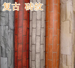 5m Stacked brick 3d stone wallpaper modern wallcovering pvc roll wallpaper brick wall background wallpaper for living room