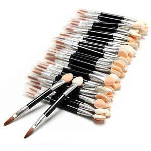 50 Stücke Kosmetik Pinsel Make-Up Lidschatten Eyeliner Sponge Lip Brush Set Applikator Doppelseitige Einweg Kostenloser Versand