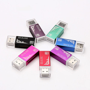 Preço de fábrica multi cartão em 1 conector adaptador USB 2.0 micro SD TF M2 memory stick MS Duo RS-MMC leitor de memória
