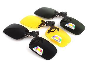 Мода солнцезащитные очки клип близорукость поляризованных унисекс ультра-легкий объектив на солнцезащитные очки UV400 вождения очки с упаковкой бесплатно DHL FedEx