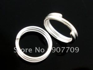 Gros-1000 Argent Plaqué Double Loops Anneaux De Sauts Ouvert 6mm / bijoux De Mode Diy Livraison Gratuite