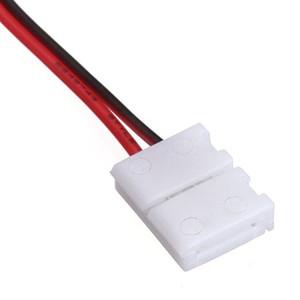 5050/5630/3528 용 단색 LED 스트립 전원 연결 용 10mm (8mm) 2 핀 커넥터 어댑터 무료 배송