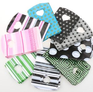 200 قطعة / الوحدة 9 أنماط الأزياء 9x15 سنتيمتر الوردي أسود شرائط النقاط أكياس البلاستيك والمجوهرات هدية حقيبة الحقائب والمجوهرات