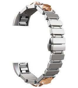 Fitbit Alta Bands, Fitbit Alta / Alta HR 용 다이아몬드 쥬얼리 조절 식 스트랩 팔찌가있는 스테인레스 스틸 밴드