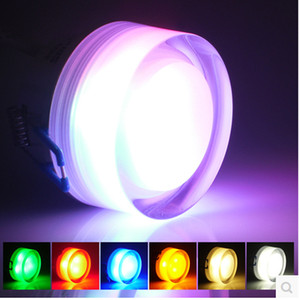 led down light crystal led plafoniera 3W AC85-265V rosso / giallo / verde / blu / bianco / bianco caldo apparecchio a led