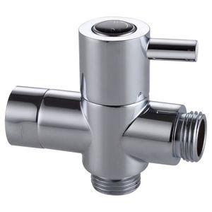 Бесплатная доставка твердой латуни 3-полосная душевая рука перекрывной клапан для Handshower универсальные компоненты душа, полированный хром