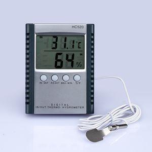 Medidor de Umidade Digital Temperatura Higrômetro Termômetro para display LCD ao ar livre indoor HC520 no pacote de varejo 50 pçs / lote