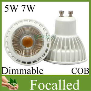 Hot sale COB Led spotlight dimmable 5w 7w Gu10 110-240v Mr16 12v led lights for home led spot light bulb lighting Free DHL