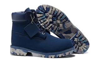Büyük indirim!!! Martin çizmeler En Kaliteli kamuflaj taban Açık kar botları Unisex Açık tırmanma ayakkabıları