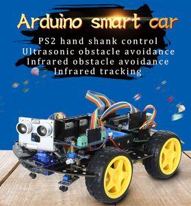 Arduino, placa de desarrollo del coche inteligente, kits de aprendizaje, kits de robot del fabricante, 4WD compatibles, instalación de Arduino y Raspberry