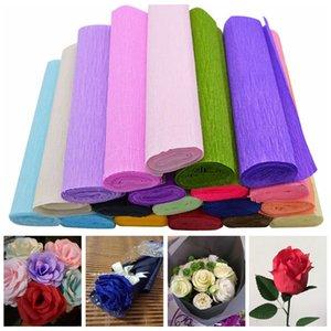 250x25cm 1 Rotolo FAI DA TE Creazione di fiori Crepe Papers Wrapping Flowers Regali Materiale da imballaggio Fatto a mano Fai-da-te Carta da regalo Decorazioni artigianali