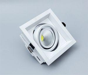 Vente en gros - Luminosité élevée 12pcs Dimmable LED Downlight COB 10W 12W 15W CA 90-260V LED Down Lights Dimmable Plafonnier LED