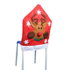 Linda Cadeira de Natal Cobre Artesanato Art Vermelho Tampas de Assento de Natal Tampa Festiva Decoração Do Partido SD712 Online