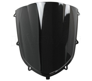 Мотоцикл Double Bubble Windshield WindScreen Для 2004-2005 Kawasaki Ninja ZX10R ZX 10R 04 05 Черный цвет