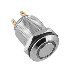 12mm 2A / 36 V Mavi LED Işıklı Halka Işıklı Push Button Anahtarı Düz DIY Ücretsiz nakliye, dandys