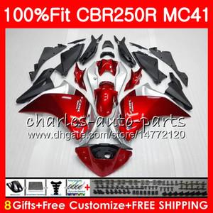 Einspritzung für HONDA CBR300R CBR250R MC41 11 12 13 14 15 94HM1 CBR250 R CBR 250R 300R CBR 250 R 2011 2012 2013 2014 Verkleidung Glänzend rot