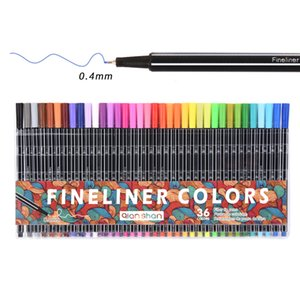 36colors Fine Liner Pen Set Micron Sketch Marker Colored 0 .4mm Coloring For Manga Art School Aguja Dibujo Sketch Marker Comics Tool
