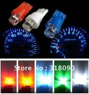 Promotion 2000pcs T10 5050 1smd 1 Led Bulbs with Wedge Base for Dashboards Gauge bulbs Car Lamp Led Light