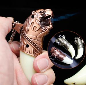 tigre prueba de viento más ligero inflable llavero de metal de cigarrillos butano metal Encendedores de gas para pipas bongs Accesorios Herramientas