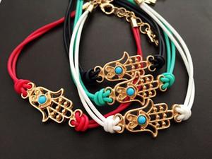 Nuovo Design Hamsa Braccialetto Hamsa Mano Evil Eye Lucky Charm Amulet Braccialetto Braccialetto Gioielli di moda Vendita calda W889