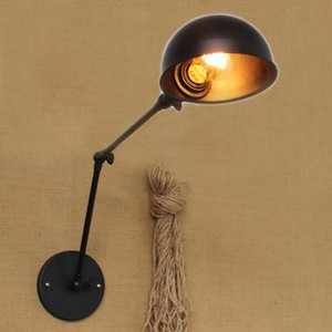 American RH retro Creative personality abroad long arm industrial Wall adorstal wall Lighting double section