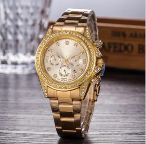 2017 Luxo GENEVA Relógios Das Mulheres Diamantes Relógios Pulseira Senhoras Designer de Relógios De Pulso 3 Cores Frete Grátis