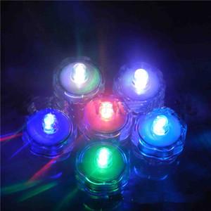 A prueba de agua LED Vela Buceo Lámpara Perilla Vela El candelero Velas electrónicas Sumergible LED Sumergible Impermeable Decoración de la boda Fiesta
