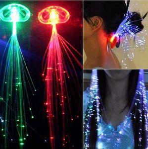 Coloré Flash LED Cheveux Clip Tête En Épingle À Cheveux Décoration RVB Léger Pour Le Show Party Danse De Noël LED Lumière Cheveux Flash Tresse Cheveux