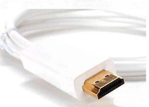 새로운 제품! 1.83M 6FT Thunderbolt 미니 디스플레이 포트 남성 MINI DP - HDMI Male 컨버터 케이블, MacBook Mac Pro 용