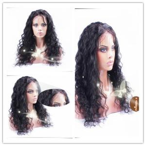 onda floja sin cola peluca llena del cordón peluca de encaje frontal malaysian virginal del pelo con el pelo del bebé para las mujeres negras