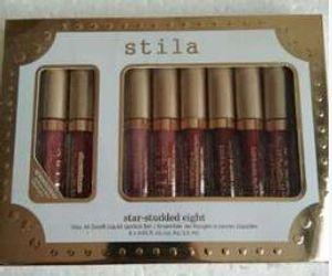 New stila Stay All Day Sparkle All Night Liquid Lipstick Holiday Set Kit 6pc set DHL ship
