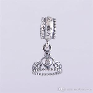 5 pz / lotto Princess tiara charms ciondolo autentico argento sterling 925 si adatta per il braccialetto di stile pandora trasporto libero vendita calda H9ale