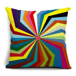 Геометрическая радуга в полоску многоточия наволочки толстый лен хлопок наволочки 45 х 45 см наволочка диван кресло украшения сиденья