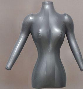 Толще разделе надувной манекен женский модель бюста с оружием M00040