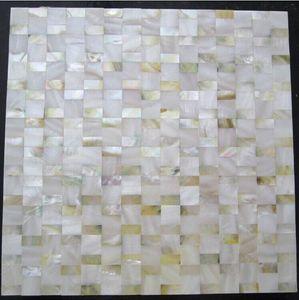 Ouro amarelo branco mãe de pérola azulejos da parede da cozinha backsplash MOP108 8mm de espessura mãe de azulejos de pérola shell placa de mosaicos