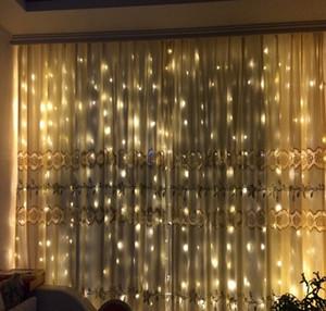 3Mx 3M 300LED Outdoor LED controller impermeabile Natale Decorativo String Fairy Curtain Ghirlande Luci di festa AC110V-220V