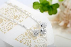 Umtausch Pearl Anhänger in Sterling Silber kurzen Absatz Schlüsselbein Kette Sterne mit Valentines, um seine Freundin ein Geburtstagsgeschenk zu senden