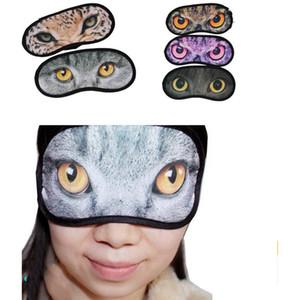 2018 Karikatür miyav yıldız siperliği 3D Seyahat uyku göz maskesi sevimli hayvan kedi uyku yama dinlenme Göz Maskesi Gölge Şekerleme Kapak Körü Körüne Gölge