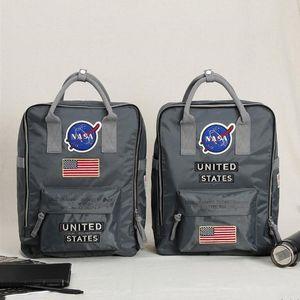 NASA 배낭 커플 데이 팩 ALPHA 나일론 배낭 경량 여행 가방 학교 배낭 틴 에이저 인 경우 뜨거운
