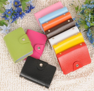 Card holders 24 cards Pu leather credit ID business card holders porte carte credit case