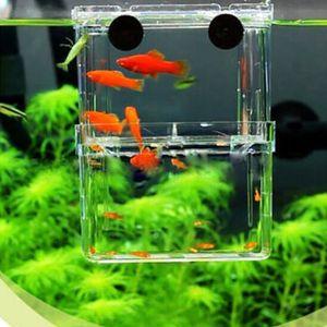 Çok fonksiyonlu balık üreme izolasyon kutusu asılı balık tankı inkübatör akvaryum balık üreme inkübatör yüzer hatcher mini akvaryum tankı