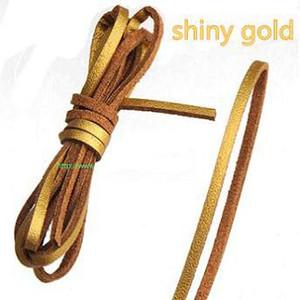 3 мм плоские кожаные шнуры для браслетов ювелирных изделий одного Кореи бархат пу имитировать канат оленьей кожи плетеные конфеты цвет DIY украшения выводы 100 м