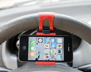 50PCS Car Cell Phone Holder Steering Bracket Steering Wheel Steering Wheel Holder Mobile Cell Phone Navigation