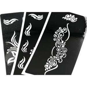 F Stencils For Panting Paper 24pcs lot Tattoo Template Glitter Tattoo Stencil Waterproof 6.8*3.4 Inch F199-392