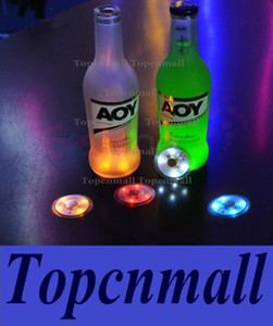 1000pcs LED Flashing Bottle Coaster Sticker For Drinks Glasses LED Night lights Night Club And Bars Beer Party Decoration Christmas lamps