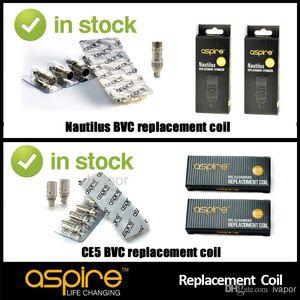 100% оригинальный Aspire Nautilus BVC катушки 0.7/1.6/1.8 ом катушки головки сердечника для Nautilus CE5 k1 ETS оптом
