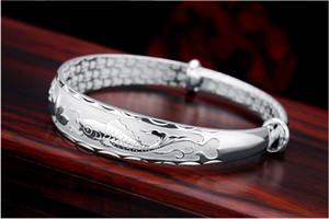 999 ayar gümüş bilezik kadın bilezik gümüş takı toptan lotus Balık sevgilisi yıldız arkadaşıyla göndermek için para